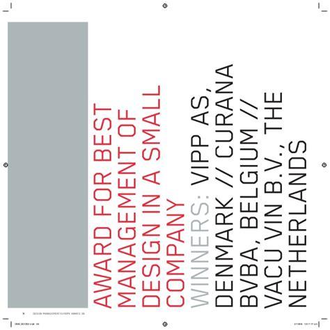 design management europe dme award 2008 design management europe dme award book of winners