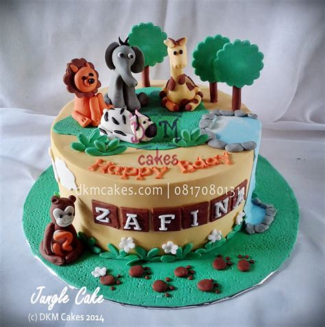 Set Ultah Tema Jungle jungle dkm cakes toko kue jember