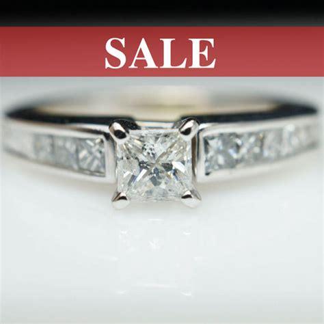 sale vintage engagement ring princess cut