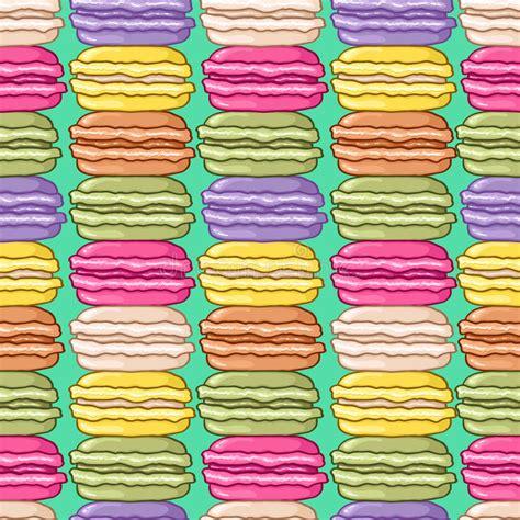 macarons pattern pink seamless cute macarons pattern stock vector image 46594506
