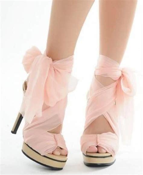 blush pink high heels pink wedding pink chiffon high heels 2060015 weddbook