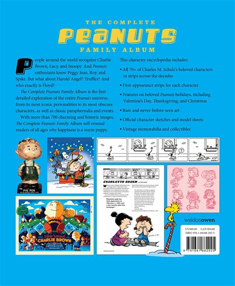 the complete peanuts family album the ultimate guide to charles m schulz s classic characters the complete peanuts family album book by andrew farago