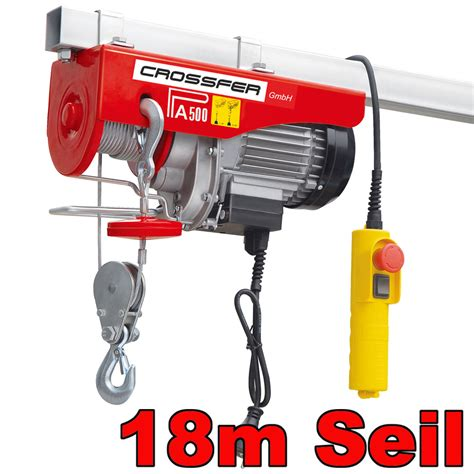 len anbringen elektro seilzug pa500d mit umlenkrolle
