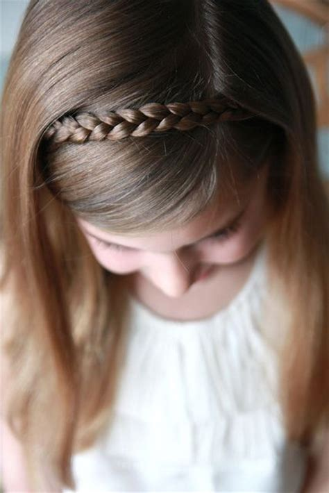 easy hairstyles with headbands sweet simple hair style for little girls braid headband