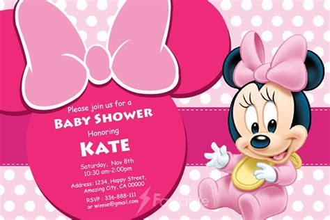 minnie mouse baby shower invitations templates minnie mouse baby shower invitations template www imgkid