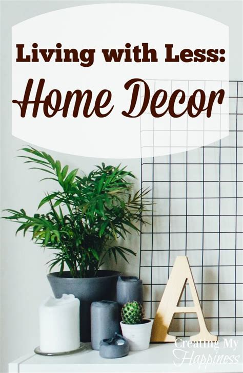living with less home decor