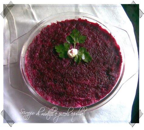 cucina moldava sciroppo di mirtilli e piccoli equilibri shuba insalata