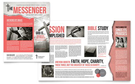church magazine template bible church newsletter template word publisher