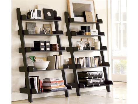 black leaning bookcase home design ideas leaning