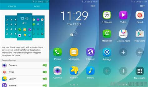Touchwiz Easy Home App touchwiz tips and tricks for the note 5 and galaxy s6