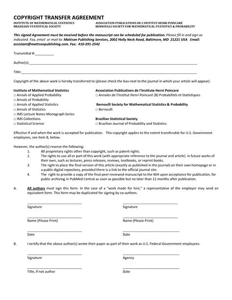 transfer agreement template free 10 best images of transfer agreement template transfer