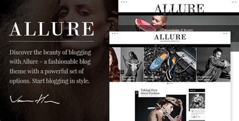 allure elated themes allure a fashionable blog theme by elated themes