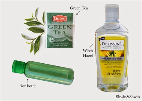 Viva Toner Green Tea diy green tea toner shwin and shwin