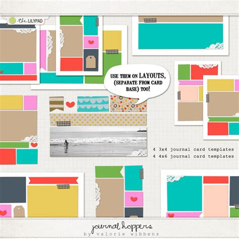3x4 note card template digital scrapbooking templates templates the lilypad