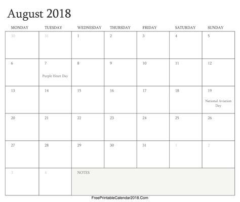 printable calendar editable 2018 august 2018 calendar templates