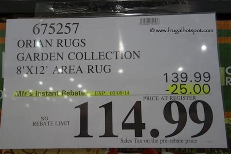 Costco Area Rugs 8 X 12 by Costco Deal Orian Rugs Garden Collection 8 X12 Area Rug