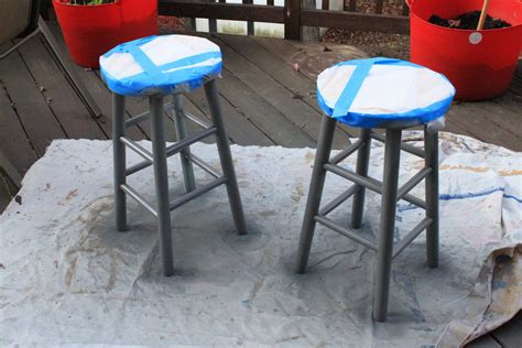 Spray Paint Bar Stools by The Creative Imperative Skirted Bar Stool
