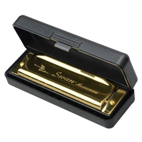 Sale Swan Harmonica sale 2 pcs swan 10 holes 20 tone diatonic harmonica set metal golden color key of c g for