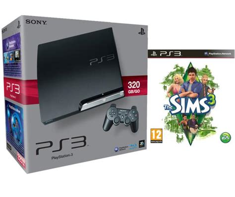 Sony Ps4 The Sims 4 Dvd playstation 3 ps3 slim 320gb console bundle includes the