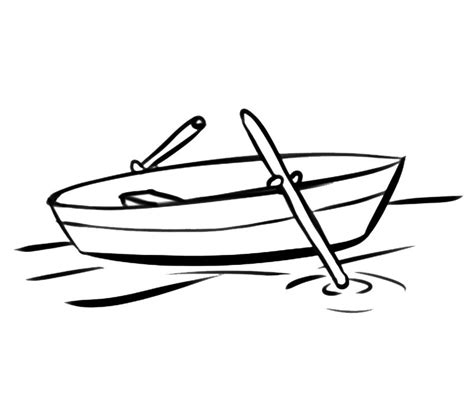 barco negrero dibujo imprimir barca con remos dibujos para colorear