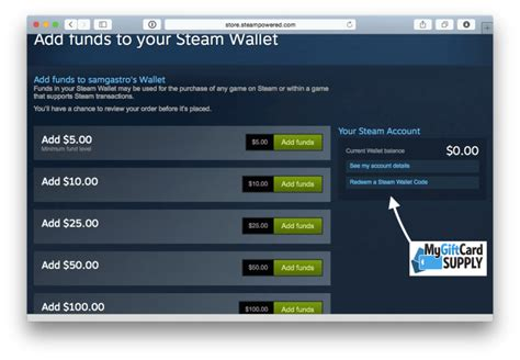 Steam Gift Card 5 - how to redeem your steam gift card