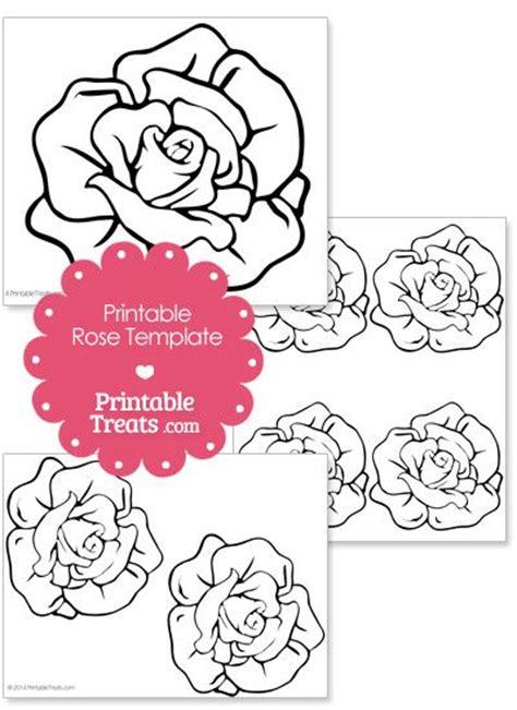 printable alice in wonderland flowers printable rose shape template from printabletreats com