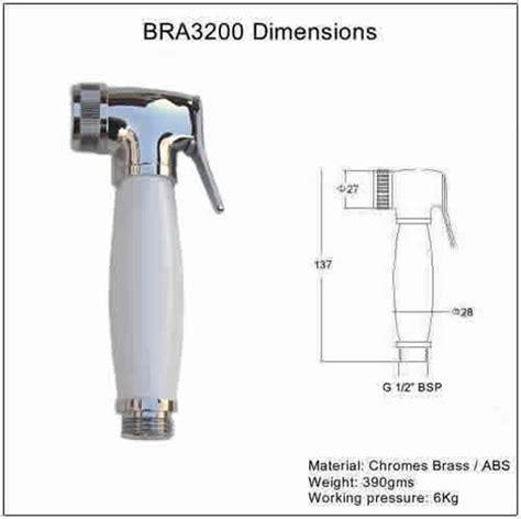 Shower Chrome Anti Bacterial bra3200 shattaf shower chrome white