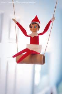 Swinging elf on the shelf wake up to an elf swinging on a toilet
