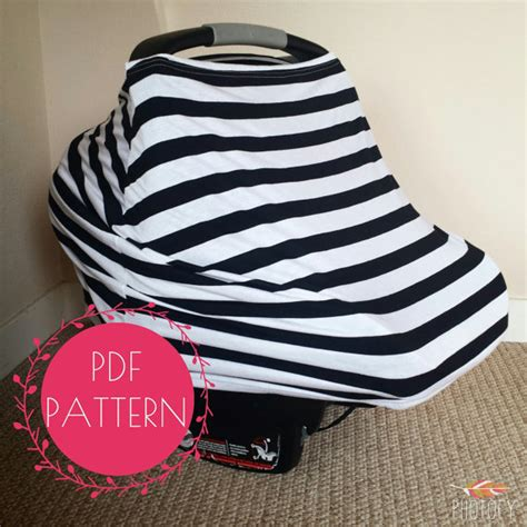 infant car seat slipcover pattern car seat cover nursing cover sewing pattern diy stretchy baby
