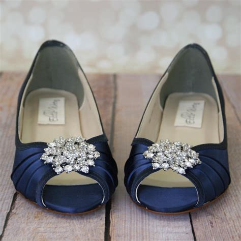 Navy Blue Wedding Shoes by Blue Wedding Shoes Navy Blue Shoes Custom Wedding Shoes