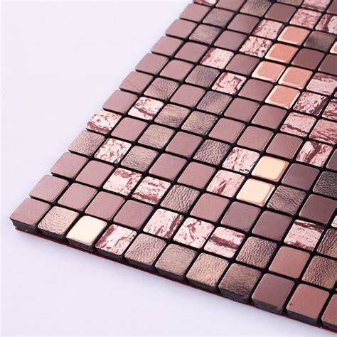 metallic mosaic tiles aluminum wall panels metal