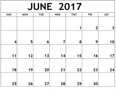 june 2017 calendar printable free calendar template
