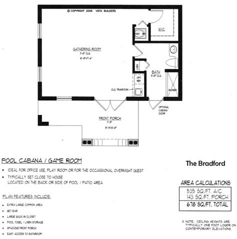 house plans with a pool bradford pool house floor plan new house pinterest