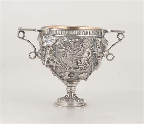 vaso argento vaso biansato in argento fuso e cesellato argentiere