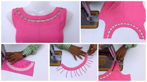 boat neck with leaf design front boat neck with bead design cutting and stitching