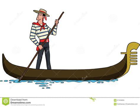 cartoon venice boat gondolier on gondola stock vector illustration of design