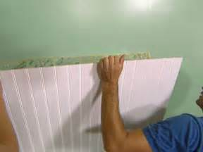 How To Install Wainscoting How To Install Beadboard Wainscoting How Tos Diy