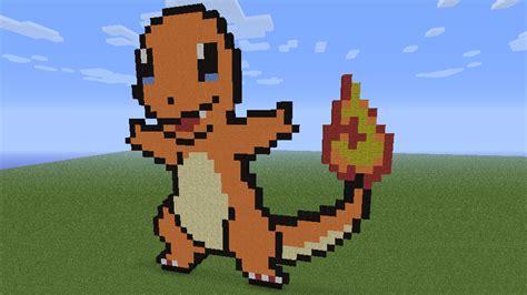 charmander pixel template minecraft charmander glumanda by mamolida on deviantart