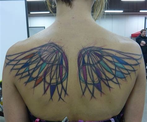 watercolor tattoo wings watercolor wings tattoos
