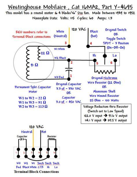 oscillating fan wiring diagram