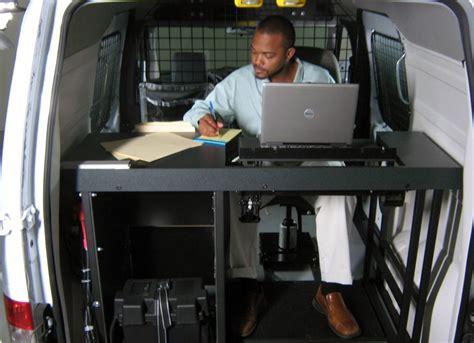 offi mobili mobile office installed in a ford transit connect goergo