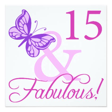 15 Year Birthday Cards 15 Year Old Party Invitations Announcements Zazzle Com Au