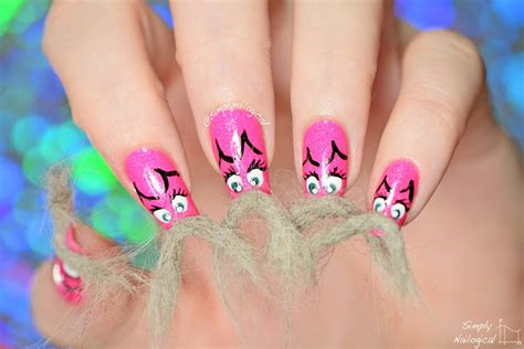 Hair Manicure simply nailogical catstache real cat hair nails for movember