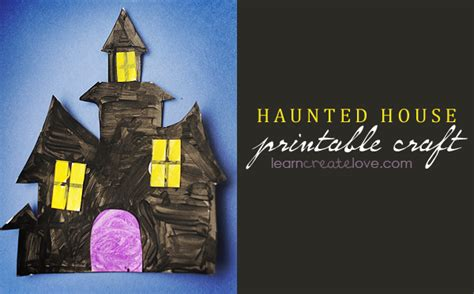 Printable Haunted House Craft | free printable haunted house template images
