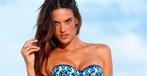 Alessandra Ambrosio Models Swim Wear by Alessandra Ambrosio S Secret Swimwear Dec 2011