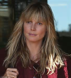 bangs and age heidi klum defies her age naturally with youthful fringe