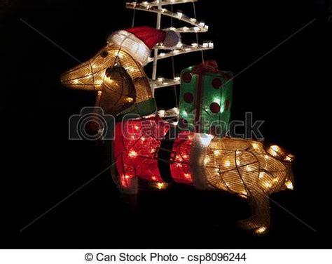 dachshund christmas lights stock photo of dachshund lights brightly lit dachshund csp8096244 search stock