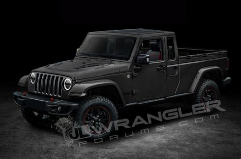 truck jeep wrangler will the jeep wrangler pickup look like this motor trend