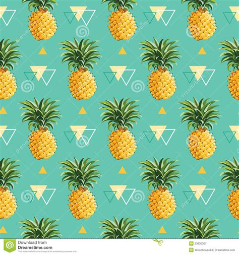 pineapple pattern hd geometric pineapple background stock vector image 53630307