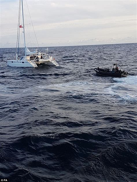 catamaran drug britain s fbi arrest five men after seizing large cocaine